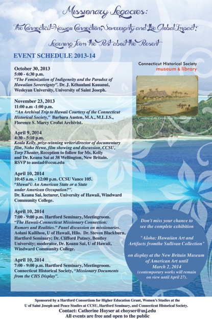 Missionary Legacies program poster